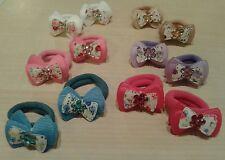 ELASTICI per capelli coppia fermacoda elastico colorato con fiocco colori vari