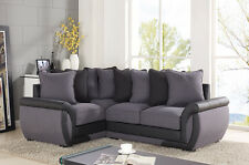 CORNER SOFA SUITES SETTEE GRAY CHARCOAL FABRIC 3 2 SEATER ARMCHAIR CHEAP