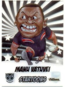 2017 NRL Traders Cards Startoons ST17/18 Manu Vatuvei Warriors