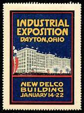 "USA Poster Stamp - Industrial Exposition, Dayton Ohio (1916) ""New"" Delco Bldg."