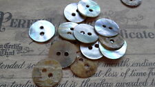 50 X MOTHER OF PEARL ROUND SHELL BUTTONS - 11MM - SEWING - CRAFT - SCRAPBOOKING