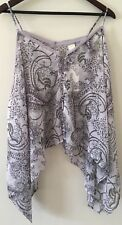 Wild Pearl Top One Size Lavender Purple Paisley Sheer