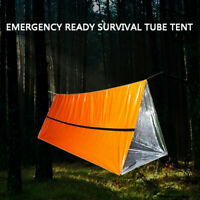 Outdoor First-Aid Survival Emergency Tube Tent Blanket Sleep Bag Camping Shelter