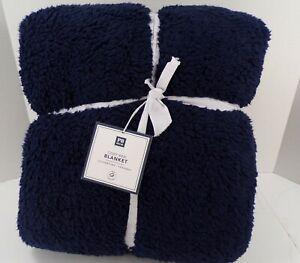 Pottery Barn Teen Cozy Bed Blanket Twin XL Classic Navy #8310