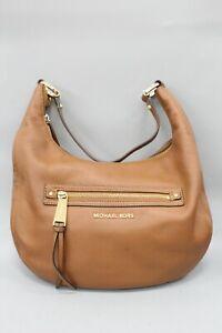 Michael Kors Brown Pebbled Leather Hobo Shoulder Bag
