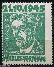 SBZ 6 Pfg. Faschismus 1945** Plattenfehler Michel 20 VI geprüft (S8745)