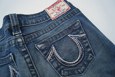 TRUE RELIGION Rainbow Johnny Damen stretch Jeans Hose 26/30 W26 L30 blau TOP #f