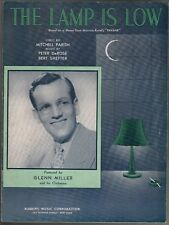 Lamp is Low 1939 Glenn Miller Sheet Music