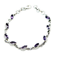 handmade Amethyst Bracelet 925 Sterling silver Jewellery Gemstone Bracelets UK