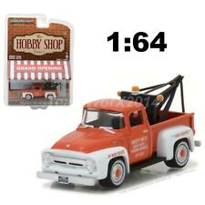 GREENLIGHT 97010 A 1956 FORD F-100 RED WITH DROP-IN TOW HOOK DIECAST MODEL 1:64