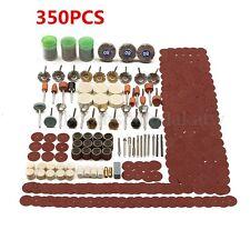 350pcs Grinding Sanding Polishing Rotary Tool Wheel Accessory Kit Set For Dremel