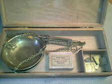 Vintage American Calif. Gold Rush Scale, Apothecary, Medicine,3 Compl. Sets Wts