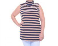 Tommy Hilfiger Women's Striped Turtle/Neck Top Size XL