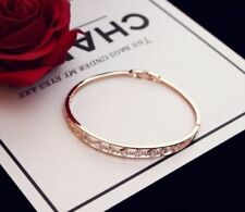 18K Gold Plated Crystal Bangle made with SWAROVSKI ELEMENTS
