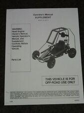 Manco Model 225 14 Go Kart Parts List Operators Manual Cart