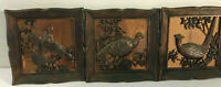 1963 Coppercraft Guild Copper Birds Wall Pictures 3-D Wall Hanging Set of 3