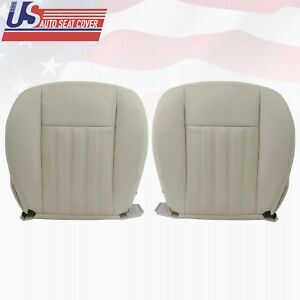 2004 Lincoln Aviator Driver + Passenger Bottom Genuine Leather Seat Cover Tan