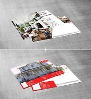 Real Estate Marketing Design Starter Kit: Postcards 50+ Adobe InDesign Templates