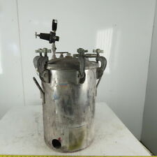 15 Gallon Stainless Steel Pressure Pot Tank Pressurized Paint 110 Psi