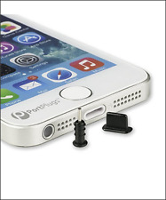 CHARGE PORT Anti-Dust, lead Protector Plug/caps for All Apple iPhone 5/6/7 Black