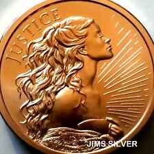 2020 2 oz Monster Round-Silver ShieldJUSTICE Copper BU! Only 689 Mintage! RARE!