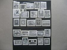CINDERELLA AUSTRIA, 25x blackprint on paper fragments