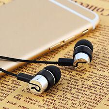 3.5mm Kopfhörer InEar Ohrhörer Bass Stereo Headphone Headset für Smartphone Weiß