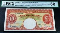 MALAYA / BRITISH ADMINISTRATION PICK #13 1941 MALAYA CURRENCY 10 DOLLARS