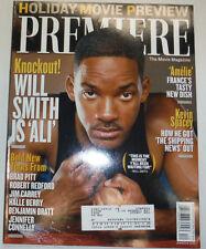 Premiere Magazine Will Smith & Brad Pitt December 2001 031015R