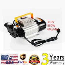 Us 110V Ac 60L/min 16 Gpm 550W Oil Diesel Fuel Transfer Pump Self Priming Pump