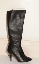 Joseph black leather boots with plastic toe detail size 36
