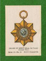 INDIAN ORDER of MERIT Star 1st Class Indian Victoria Cross 1915 original Silk