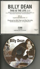 BILLY DEAN This is the Life 2005 USA PICTURE DISC PROMO Radio DJ CD Single MINT