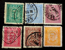 Portugal 6 Used Values Of King Carlos Possible Cancel Interest 1892-3 Cat.$42