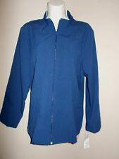 BonWorth NWT Womens Solid Blue Lightweight Zippered Jacket Long Slv $35