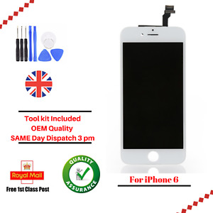 For Apple iPhone 6 White LCD Screen And Digitizer Assembly With Frame Tool Kit