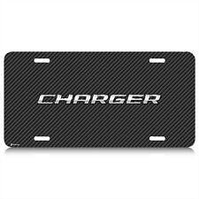 Dodge Charger Carbon Fiber Look Graphic Aluminum License Plate