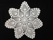 "pineapple 13"" 33cm cream hand crochet doily, doilie, doiley"