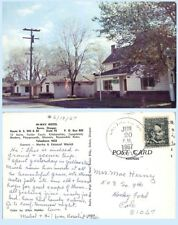Hi-Way Motel Burns Oregon Retro 1967 Advertising Postcard Architecture Cabins