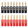 Lot 20pcs Gold Plated Audio Speaker Wire Cable Banana Plug Adapter Connector 4mm