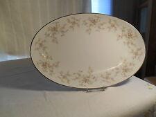 Noritake Arlene 5802 Pink &Yellow Flowers,Gray Leaves, Silver Trim Platter