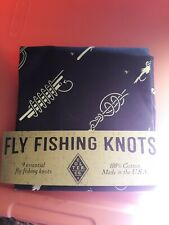 New listing Colter Co Fly Fishing Knots Bandana Blue 22x22 New
