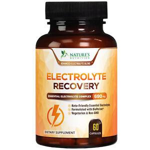 Electrolyte Supplement Hydration Pills w/Bioperine 690mg Replenish Electrolytes