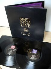 Simple Minds Live In The City Of Light + Booklet UK 2 x LP Virgin SMDL 1 1987 EX