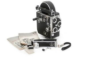 ☆EXC+++☆ Bolex H-16 16mm Film Camera Body with View Finder and Extras.