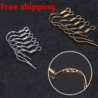 100x 925 Sterling Silver Earring Hook Wire Hypoallergenic DIY Jewellery Ear Wire