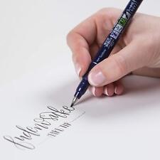Tombow Fudenosuke Brush sign  2 Pens Set black  Calligraphy Art Drawings Marke