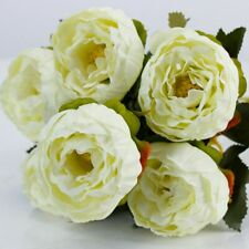 Artificial Silk Peony Flowers Bouquets for Wedding Party Office Home Decor