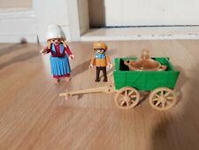 Playmobil Nostalgie Kind mit Bollerwagen, 5501, rosa Serie, vollständiges Set