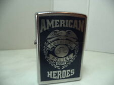ZIPPO ACCENDINO LIGHTER AMERICAN HEROES  POLICE VERY RARE NEW